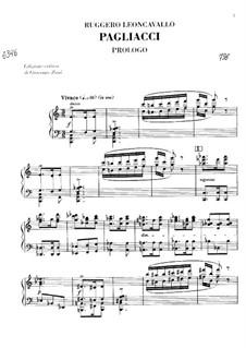 Pagliacci: Piano-vocal score by Ruggero Leoncavallo