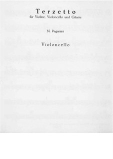 Terzetto for Violin, Cello and Guitar: Cello part by Niccolò Paganini
