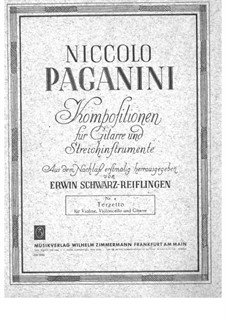 Terzetto for Violin, Cello and Guitar: Guitar part by Niccolò Paganini