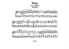 Waltz for Piano in E Flat Major, WoO 84: For a single performer by Ludwig van Beethoven