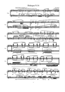 Dialogues for piano: Dialogue 16, MVWV 1316 by Maurice Verheul