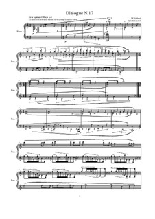 Dialogues for piano: Dialogue 17, MVWV 1317 by Maurice Verheul