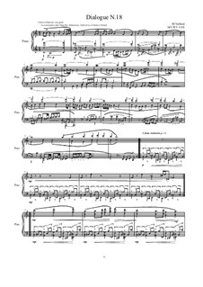 Dialogues for piano: Dialogue 18, MVWV 1318 by Maurice Verheul