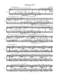 Dialogues for piano: Dialogue 19, MVWV 1319 by Maurice Verheul