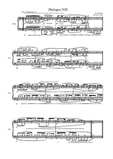 Dialogues for piano: Dialogue 20, MVWV 1320 by Maurice Verheul