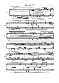 Dialogues for piano: Dialogue 21, MVWV 1321 by Maurice Verheul