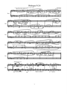 Dialogues for piano: Dialogue 24, MVWV 1337 by Maurice Verheul