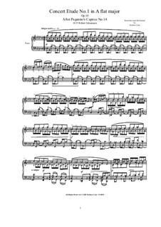 Six Concert Etudes after Caprices Paganini, Op.10: Etude No.1 by Robert Schumann