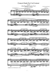Six Concert Etudes after Caprices Paganini, Op.10: Etude No.2 by Robert Schumann