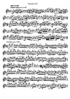 Sonata No.12: Solo part by Johann Mattheson