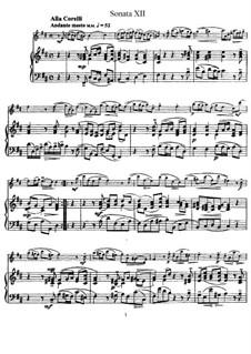 Sonata No.12: Version for flute and piano by Johann Mattheson