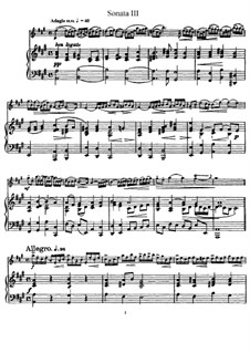 Sonata No.3 : Version for flute and piano by Johann Mattheson