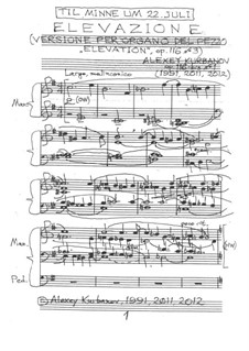 Elevazione, Op.116-bis No.1: Elevazione by Alexey Kurbanov