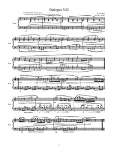 Dialogues for piano: Dialogue 22, MVWV 1326 by Maurice Verheul