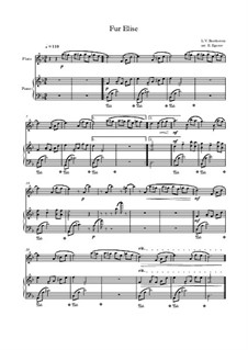 10 Easy Classical Pieces For Flute & Piano: Für Elise by Franz Schubert, Johann Strauss (Sohn), Edward Elgar, Jacques Offenbach, Ludwig van Beethoven, Edvard Grieg, Julius Benedict, Mildred Hill, Eduardo di Capua