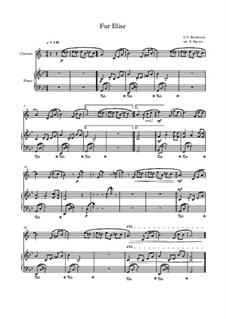 10 Easy Classical Pieces for Clarinet & Piano: Für Elise by Franz Schubert, Johann Strauss (Sohn), Edward Elgar, Jacques Offenbach, Ludwig van Beethoven, Edvard Grieg, Julius Benedict, Mildred Hill, Eduardo di Capua