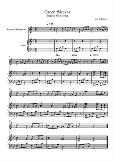 Greensleeves: For soprano saxophone and piano by folklore