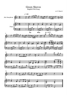 Vocal-instrumental version: For alto saxophone and piano by folklore