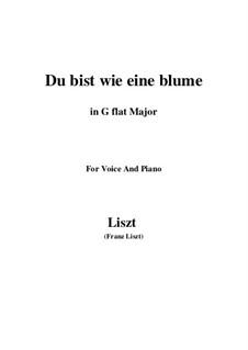 Du bist wie eine blume, S.287: G flat Major by Franz Liszt