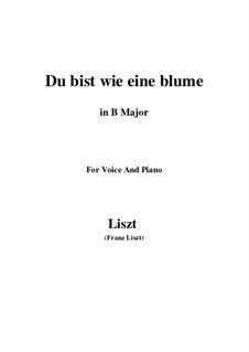Du bist wie eine blume, S.287: B Major by Franz Liszt