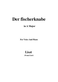 Three Songs from 'William Tell', S.292: No.1 Der fischerknabe (A Major) by Franz Liszt