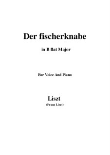 Three Songs from 'William Tell', S.292: No.1 Der fischerknabe (B flat Major) by Franz Liszt