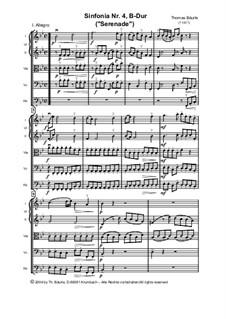 Sinfonia Nr.IV, B-Dur für Streicher: Partitur by Thomas Bäurle