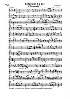 Sinfonia Nr.IV, B-Dur für Streicher: Violine I by Thomas Bäurle