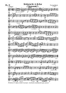 Sinfonia Nr.IV, B-Dur für Streicher: Violine II by Thomas Bäurle