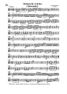 Sinfonia Nr.IV, B-Dur für Streicher: Viola by Thomas Bäurle