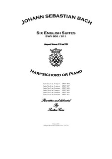 Complete set, BWV 806-811: For harpsichord (or piano) by Johann Sebastian Bach