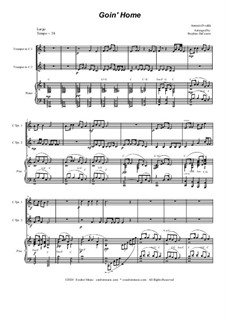 Movement II (Largo): Duet for C-trumpet by Antonín Dvořák