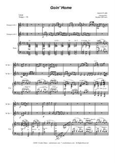 Movement II (Largo): Duet for Bb-trumpet by Antonín Dvořák