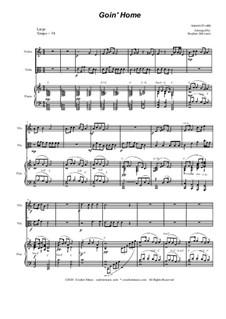 Movement II (Largo): Duet for violin and viola by Antonín Dvořák