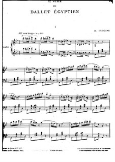 Ballet égyptien, Op.12: Suite No.2, for piano by Alexandre Luigini