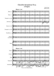 Chamber Symphony No.5 (Tragic): Chamber Symphony No.5 (Tragic) by Jordan Grigg