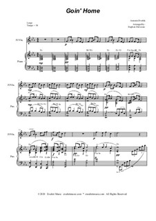 Movement II (Largo): For flute or violin solo and piano by Antonín Dvořák