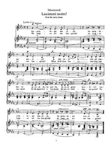 L'Arianna (Ariadne): Lasciatemi morire (No Longer Let Me Languish) by Claudio Monteverdi