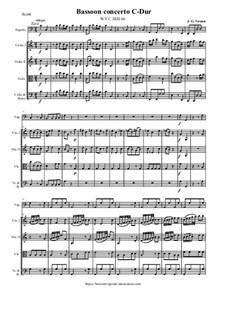 Bassoon concerto C-Dur - Score & Parts, GraunWV C:XIII:66: Bassoon concerto C-Dur - Score & Parts by Johann Gottlieb Graun