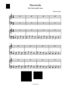 Marmelade: For piano four hands by Michaela Kilian