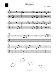 Huepfspiel: For piano four hands by Michaela Kilian