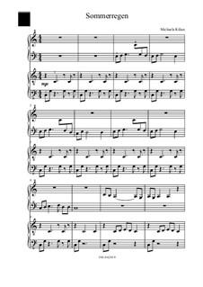 Sommerregen: For piano four hands by Michaela Kilian