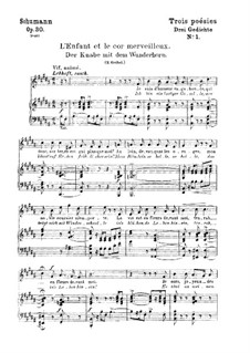 Three Poems, Op.30: Complete set (German and french texts) by Robert Schumann