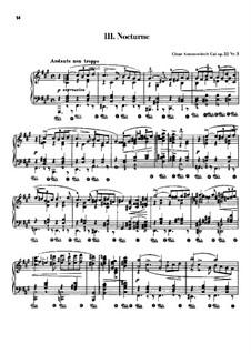 Four Pieces, Op.22: No.3 Nocturne by César Cui