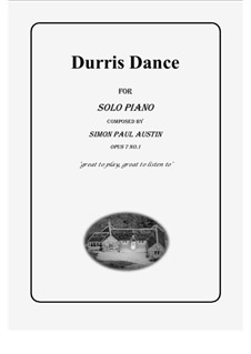 All of The Callum Collection, Op.7: No.1 Durris Dance. Solo piano (medium) by Simon Paul Austin