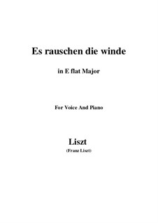 Es rauschen die Winde, S.294: E flat Major by Franz Liszt