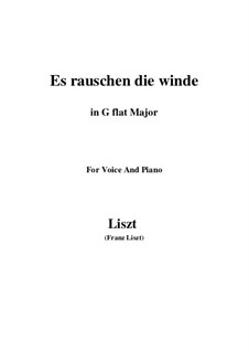 Es rauschen die Winde, S.294: G flat Major by Franz Liszt
