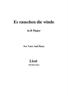 Es rauschen die Winde, S.294: B Major by Franz Liszt