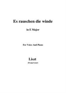 Es rauschen die Winde, S.294: E Major by Franz Liszt