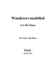 Wanderer's Night Song, S.306: G flat Major by Franz Liszt